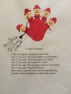 Five little firefighters poem