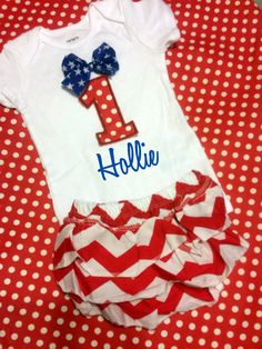 Ready to Ship 4th of July Birthday Outfit Red White and Blue Personalized w Name and Number age monogrammed patriotic onesie shirt or tank by EverleeBoutique on Etsy