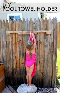 Crafty Texas Girls: DIY Towel Rack (for the Pool) i would put a little roof over it (maybe like a shelf) to make sure towels dont get wet