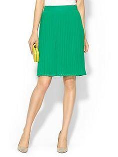 Sabine Pleated Midi Skirt   Piperlime #weartowork