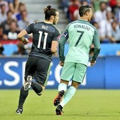 They had to play against each other but Portugal won aka Ronald's team and Gareth Bale is on Wales