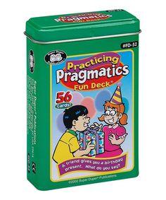 Super Duper Publications Practicing Pragmatics Flash Card Set | zulily