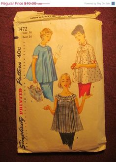 SALE Complete 1960's Simplicity Sewing Pattern by EarthToMarrs, $8.00