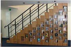 Creative DVD Storage Ideas Stairs