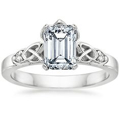 Platinum Celtic Claddagh Ring from Brilliant Earth