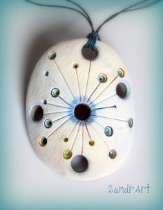 satellite of love by SandrArt| Flickr - Photo Sharing! #polymer #clay #pendant