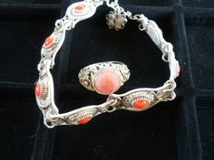 Very ordinate silver and coral bracelet and by PalmettoPicks, $200.00