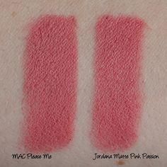 Jordana Matte Pink Passion Dupe of MAC Please Me (Own the Jordana Lipstick)