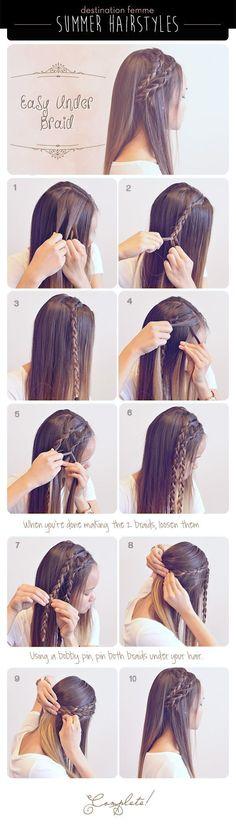 DIY Ideas Hair & Beauty : 3 Cute & Easy Braided Hairdos for Summer Destination Femme