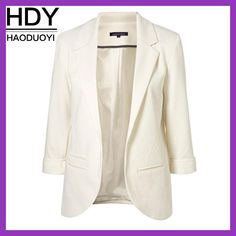 Cheap open front blazer, Buy Quality candy color coat directly from China blazer jacket Suppliers: HDY Haoduoyi 2017 Autumn Women 7 Colors Slim Fit Blazer Jackets Notched Office Work Open Front Blazer Outfits Candy Color Coats Formal Jackets For Women, Blazers For Women, Coats For Women, Women Blazer, Ladies Blazers, Ladies Jackets, Boyfriend Blazer, Boyfriend Style, Blazer Outfits