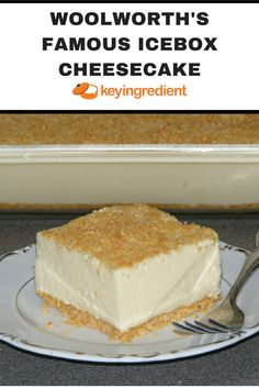 Woolworth's Famous Icebox Cheesecake Recipe Light and refreshing icebox dessert made famous by Woolworth's lunch counter back in the Icebox Cheesecake Recipe, Icebox Desserts, Cheesecake Cupcakes, Köstliche Desserts, Baking Cupcakes, Simple Cheesecake, Cupcakes Kids, Icebox Cake, Mini Cupcakes
