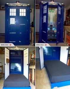 TARDIS fold away bed!! I would hook the back of it up to another room...then it would be bigger on the inside :)