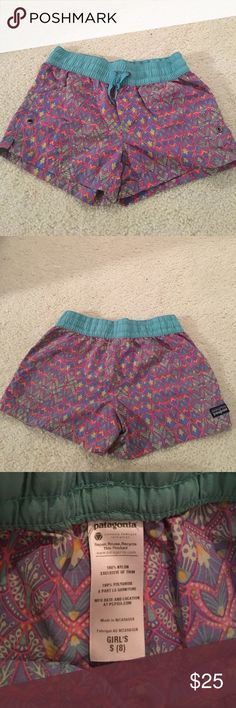 Patagonia Girls Patterned Shorts Patagonia Girls patterned shorts size 8 Patagonia Shorts