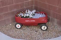 Nice idea for beverages Secrets of a Modern Mama: Preston's Baseball First Birthday Party
