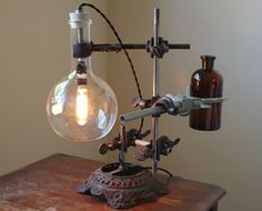 Industrial desk lamp steampunk lamp by OBJECTSofINDUSTRY on Etsy