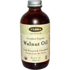 Flora, Certified Organic, Walnut Oil, 8.5 fl oz (250 ml) - iHerb.com. Bruk gjerne rabattkoden min (CEC956) hvis du vil handle på iHerb for første gang. Da får du $5 i rabatt på din første ordre (eller $10 om du handler for over $40), og jeg blir kjempeglad, siden jeg får poeng som jeg kan handle for på iHerb. :-)