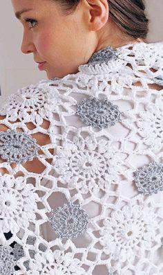 Платок крючком crochet motif shawl or wrap free pattern