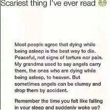 O.O <=== :) Oh! So that's the feeling? That means I've almost died about 3-5 times