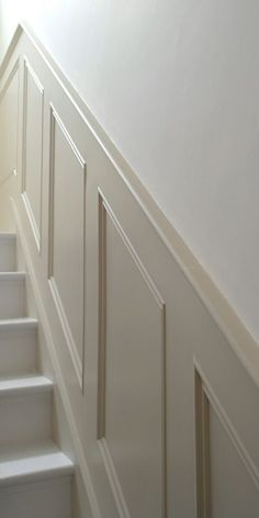 Classic Panels For Stairs paneling on stairs and dining room – staircase Stair Paneling, Wall Panelling, Paneling Walls, Basement Stairs, Basement Ideas, Dark Basement, Basement Layout, Wood Stairs, Basement Bathroom