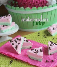 Cutest and easiest dessert ever = Watermelon Fudge