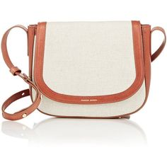 Mansur Gavriel Crossbody Bag ($425) ❤ liked on Polyvore featuring bags, handbags, shoulder bags, white, leather shoulder bag, genuine leather handbags, leather handbags, leather purse and leather cross body purse