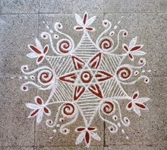 Rangoli Designs Latest, Rangoli Designs Diwali, Kolam Designs, Simple Rangoli, Mehndi Designs, Colour Rangoli, Kolam Dots, Free Hand Rangoli Design, Mehndi Decor