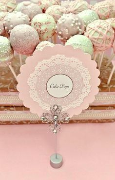 Cake pops at a Pink Party #pink #partycakepops