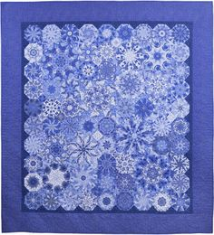 """""""Ode to Spode,"""" 67"""" x 72"""", by Dawn White of First Light Designs (2012). Based on Judy Johnson's """"Cascading Kaleidoscopes"""" design."""