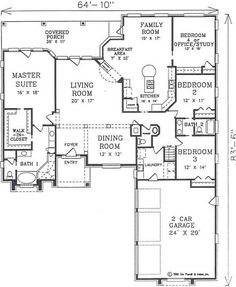 A 4 Bedroom, 3 Bath Contemporary House Plan. Ask us about customization!