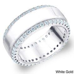 Amore 14k White or Yellow Gold 1ct TDW Machine-set Diamond Anniversary Wedding Band (H-I, I1-I2) (Yellow Size-5), Women's, Size: 5