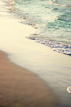Want to be walking along the edge of the water and feel the sand between my toes...