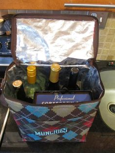 The Picnic Thermal holds four bottles of wine and even the appetizers!