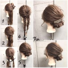Up do with accessory- Barrette