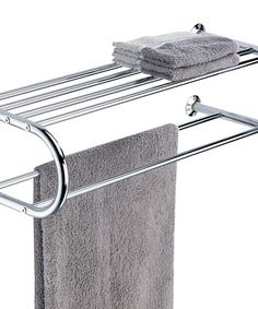 Another great find on #zulily! Chrome Curved Towel Bar Shelf by Organize It All #zulilyfinds