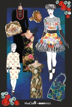 Winter Garden Gala mood board created by Teen Vogue's Mary Kate Steinmiller and @ModCloth