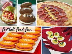 Football themed food. Football season, sports birthday party.