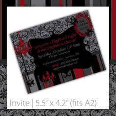 Halloween Invitation . PRINTABLE . Victorian Rouge ~ $20.00 ~ printable halloween invite, printable halloween invitation, halloween invite, halloween invitation, halloween party, digital halloween, Halloween, scary invite, scary invitation, Victorian halloween, damask halloween, black & red halloween invite, black & red invitation, damask invite #halloweenparty #halloweenthemedparty #halloweeninvite #halloweeninvitation #fancyhalloween ~ https://www.etsy.com/listing/162815817