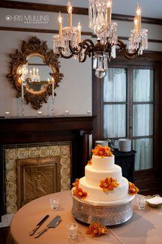 Nashville Garden Wedding Venue | CJ's Off the Square | Clean Ivory Wedding Cakes - Photo: Chris Mullins