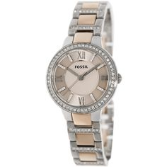 Fossil Women's Virginia ES3405 Two-tone Stainless Steel Quartz Watch - Overstock™ Shopping - Big Discounts on Fossil Fossil Women's Watches