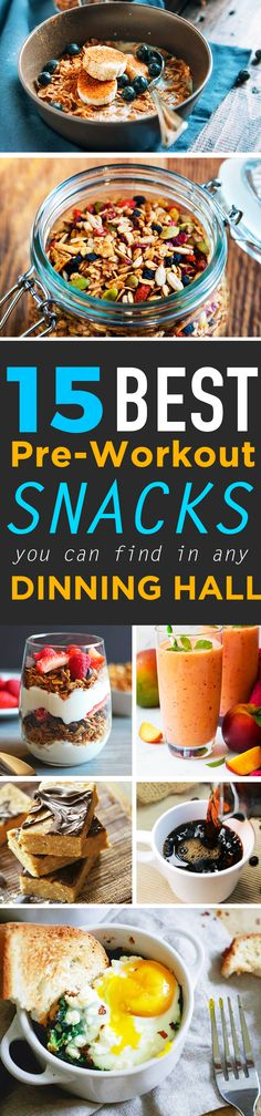 The 15 Best Pre-Workout Snacks You Can Find In Any Dining Hall – SOCIETY19