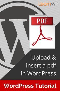 Blogging Tips | Wordpress | How to upload & insert a pdf in WordPress