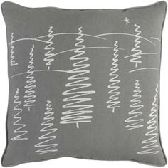 ca19398ed7d Grey Christmas Tree Throw Pillow.  35 for Poly Filled    50 For Down Filled  Christmas