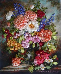 Gallery.ru / Букет в викторианском стиле - Вышивка лентами, часть 2 - silkfantasy