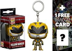 Yellow Ranger: Pocket POP! x Power Rangers Mini-Figural Keychain + 1 FREE Official Japanese Super Sentai Trading Card Bundle (123501) POP! is a crossover vinyl figure series by Funko and other famous franchises such as Disney, Pixar, DC Comics, Marvel Comics, Star Wars, Simpsons, South Park, Uglydoll, etc. Each Pocket POP! figure is about ~1″ to ~1.5″ tall and crafted in a Japanese anime/manga super-deformed style (NOTE: due to the unique design of each character
