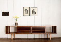 Wren & Cooper - etsy - Bucks Media Console - Modern - Solid Walnut and Maple