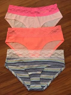 4ec509a6df29 Victoria's Secret Low Rise Hiphugger NWT Lace Waist Panty Lot Of 3 Medium  #fashion #