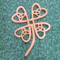 Four Leaf Clover-Celtic Symbol of Abundance-Lucky Clover-Luck of the Irish on Etsy, $148.00