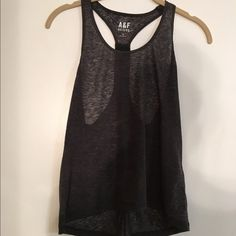 Abercrombie sheer workout tank! Super cute would wear it if it was a little bigger Abercrombie & Fitch Tops Tank Tops