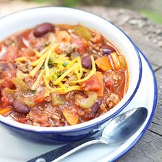 Turkey and Bean Chili   #myplate #vegetables #protein