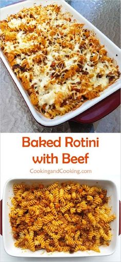 Baked Rotini With Beef Recipe